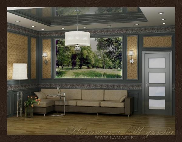 дизайн интерьера малой гостиной