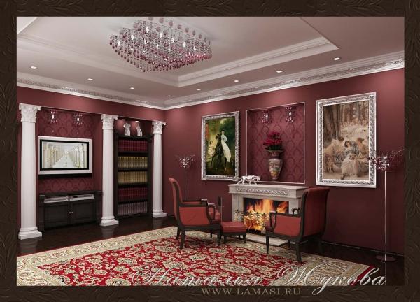 дизайн интерьера малой гостиной в классическом стиле