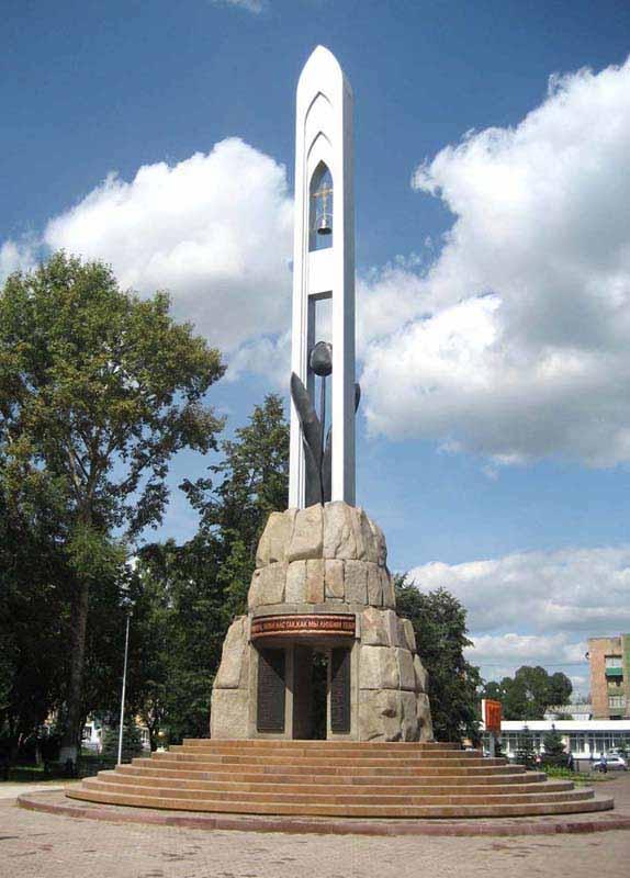 Памятник черный тюльпан в новокузнецке гранитные памятники цены балахна