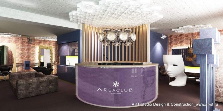 дизайн интерьера основного зала салона красоты