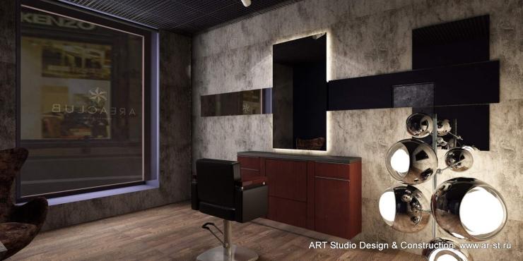 дизайн интерьера VIP зала салона красоты