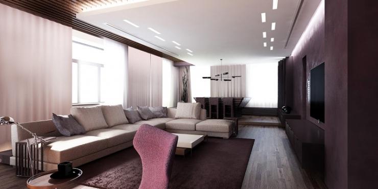 Гостиная комната на первом этаже