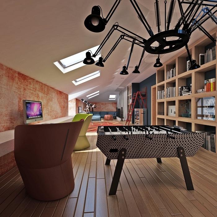 Игровая комната на третьем этаже