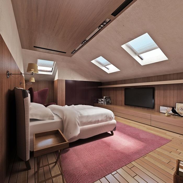 Спальная комната на третьем этаже
