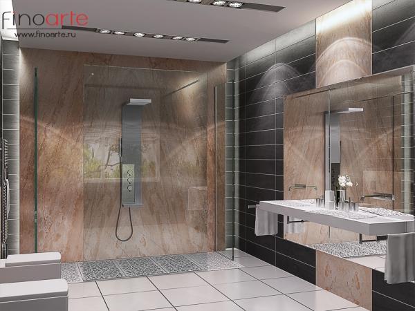 Интерьер ванной Вид 1