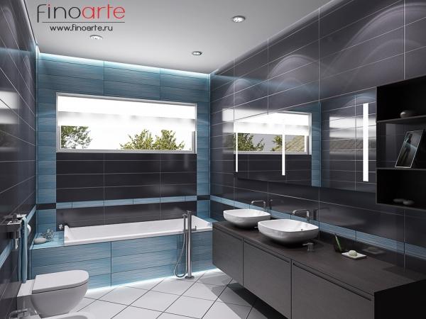 Интерьер гостевой ванной