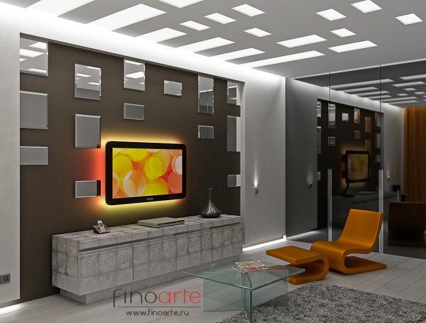 Интерьер гостиной Вид 1