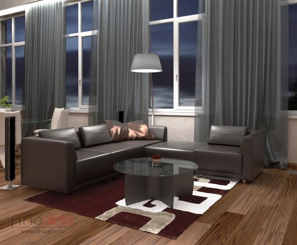 Интерьер гостиной Вид 2