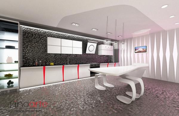 Интерьер кухонной зоны