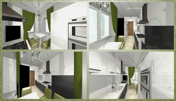 Эскизы интерьера кухни