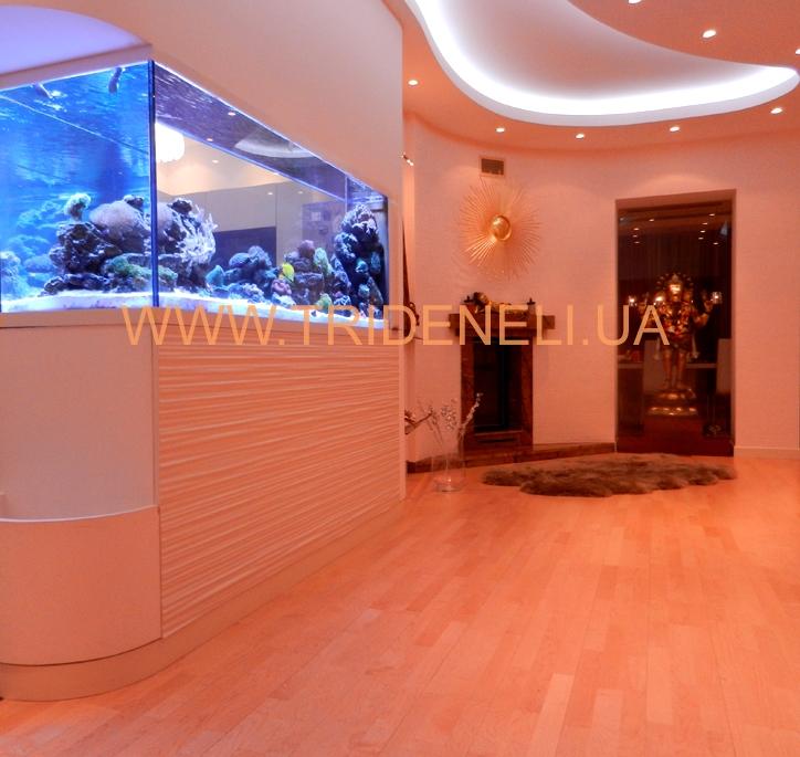 отделка аквариумов и каминов