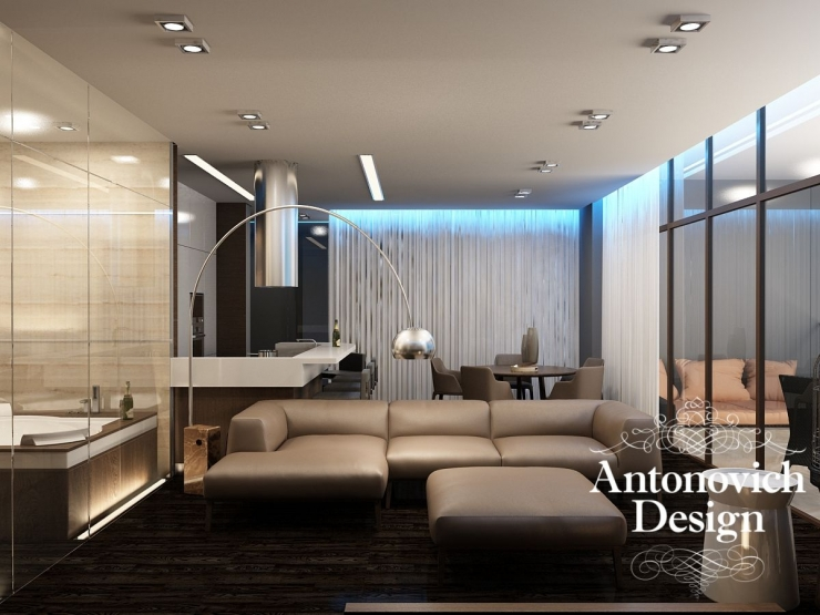 Design of an apartment in a modern style