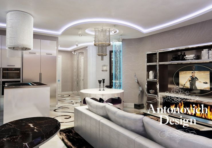Exclusive interior design apartment, ANTONOVICH DESIGN