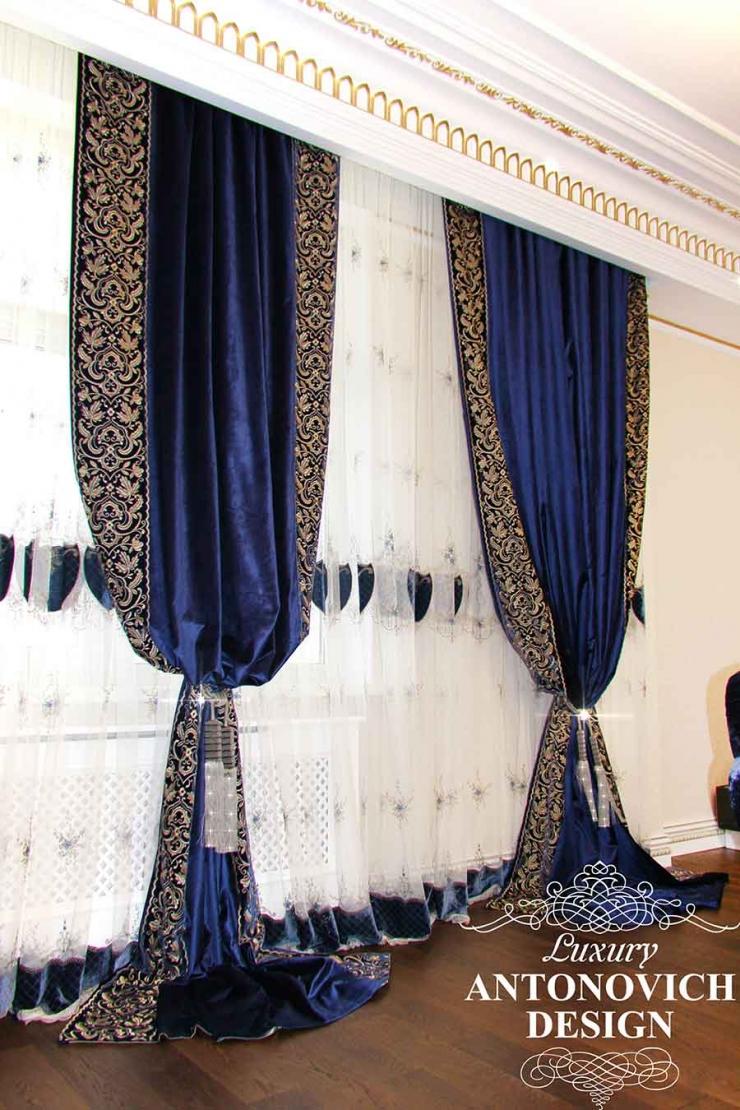 Пошив штор, бархатные шторы