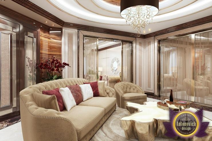 Living room design in Nigeria Abuja, Luxury Antonovich Design