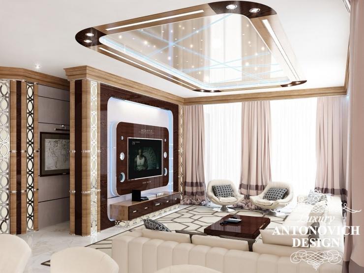 Дизайн гостиной в современном стиле от Luxury Antonovich Design