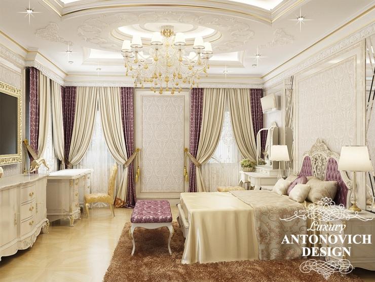Классический стиль в интерьере спальни, Luxury Antonovich Design