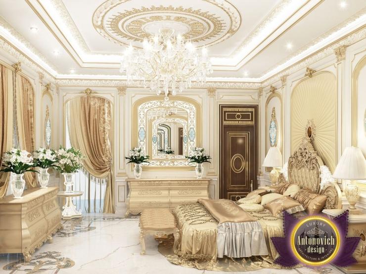 Дизайн шикарной спальни от Luxury Antonovich Design