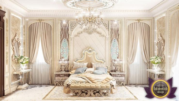 Luxury Royal Arabic Master Bedroom of Luxury Antonovich Design