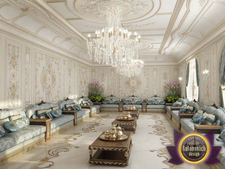 Интерьер восточной гостиной от Антонович Дизайн