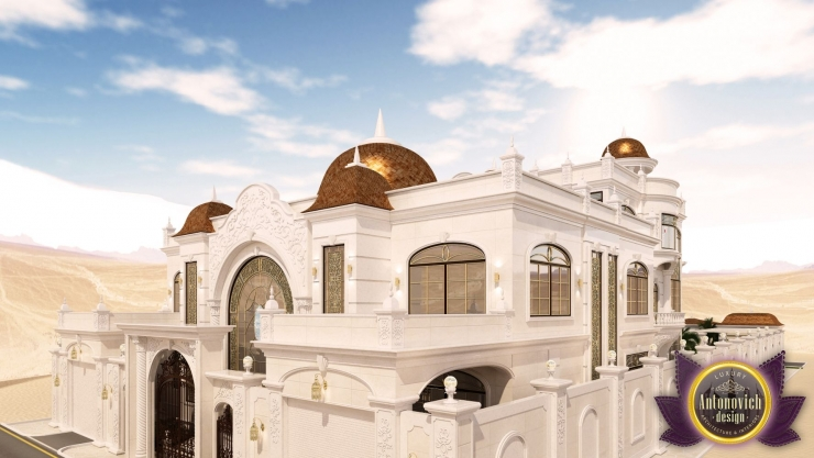 Дизайн экстерьера дома в Абу Даби
