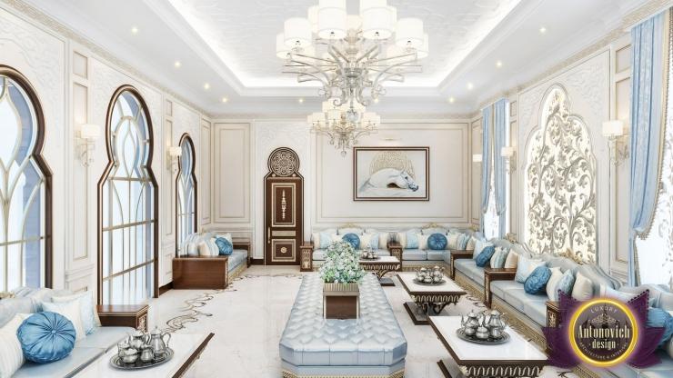 Дизайн интерьера гостиной в арабском стиле