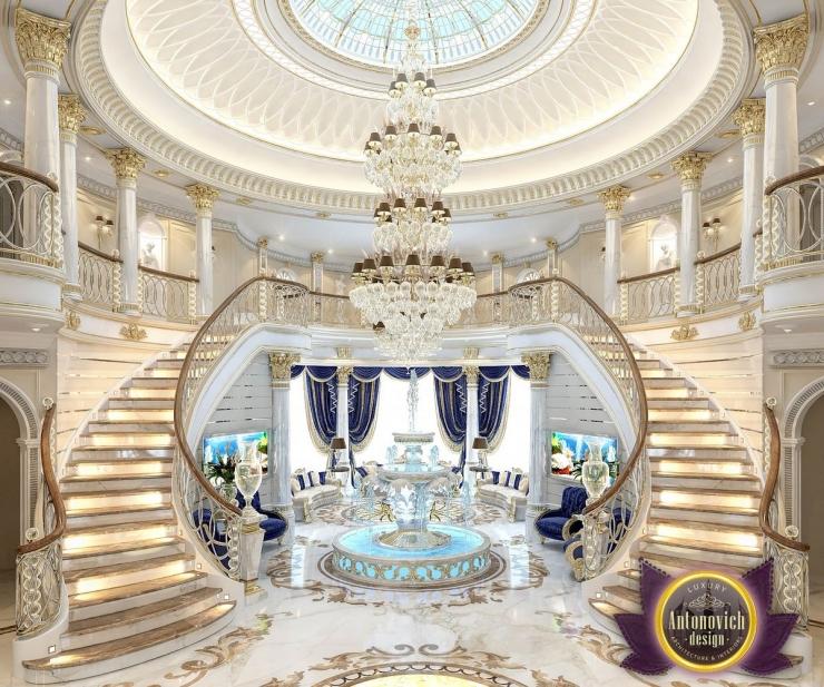 Luxury villa interior in Abu Dhabi from Katrina Antonovich