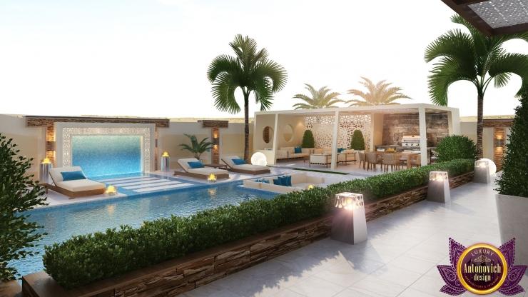 Contemporary Landscape Design in Abu Dhabi, Luxury Antonovich Design, Katrina Antonovich