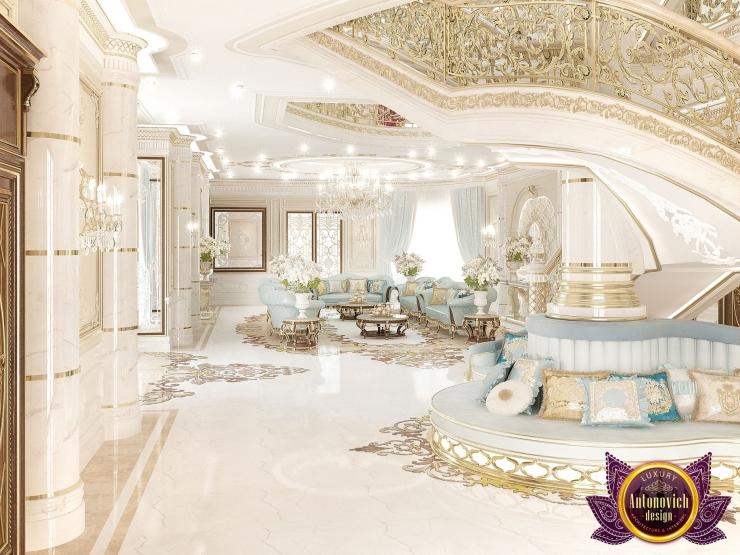 Красивый интерьер виллы в Абу Даби