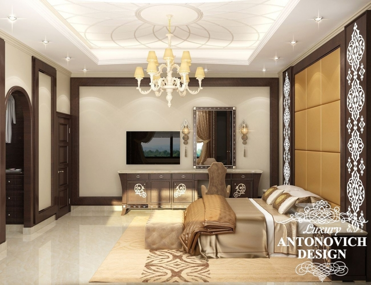 Красивые интерьеры, интерьер спальни, Антонович Дизайн