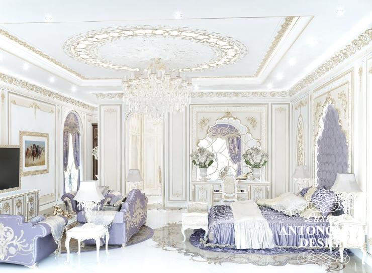 красивый интерьер спальни, Антонович Дизайн