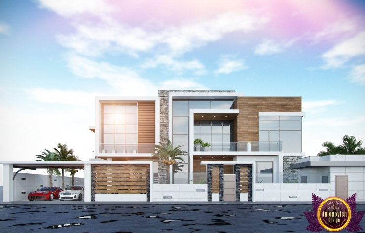 Дизайн экстерьера дома, от Katrina Antonovich