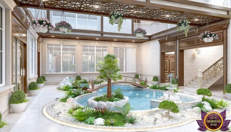 Interior the swimming pool of Katrina Antonovich