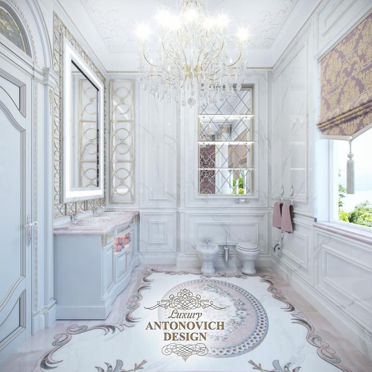 Красивые интерьеры, Дизайн ванной от Antonovich Design
