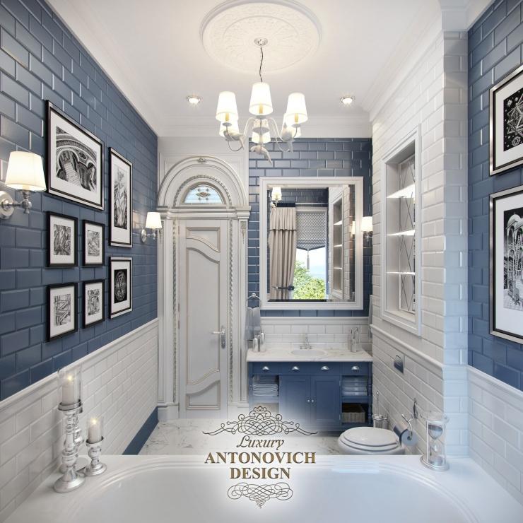 интерьер ванной, Антонович Дизайн