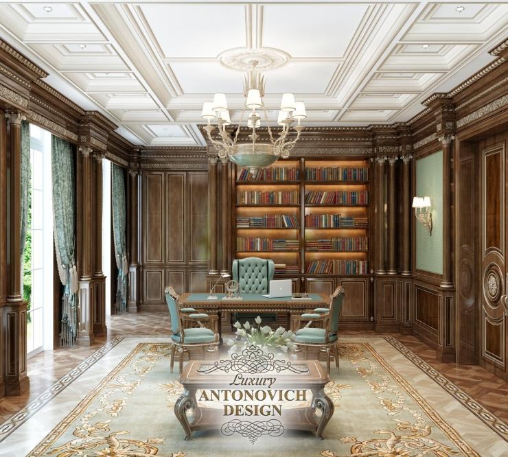 Luxury Antonovich Design, Антонович Дизайн, дизайн кабинета