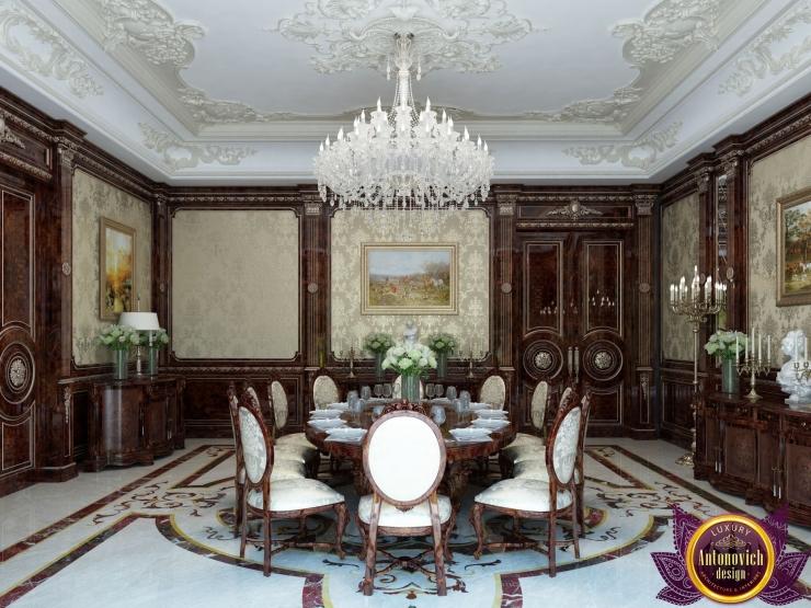 Dining room interior, classic style, Katrina Antonovich