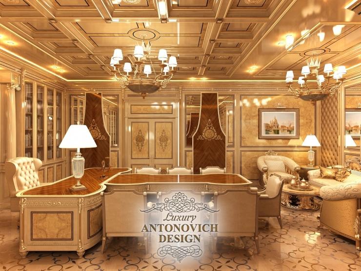 Дизайн интерьера офиса, дизайн рабочего кабинета, Антонович Дизайн, Светлана Антонович