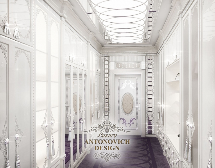 Интерьер гардеробной, дизайн гардеробной, Светлана Антонович