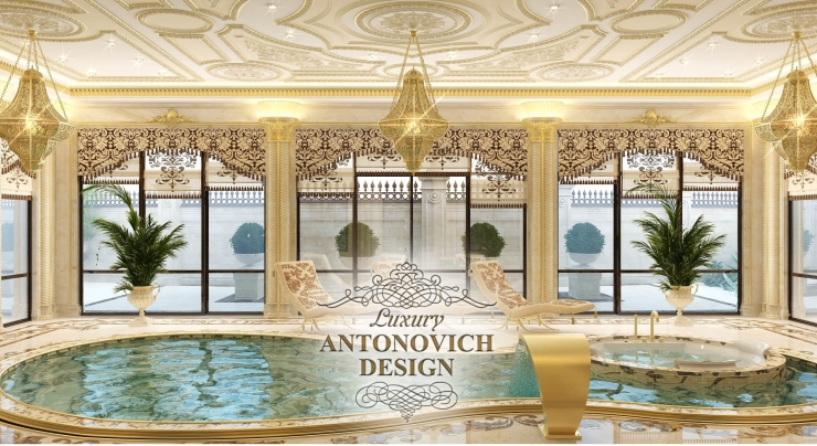 Интерьер бассейна, Luxury Antonovich Design