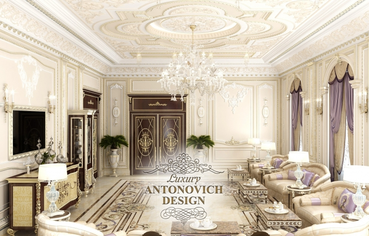 Дизайн гостиной, Luxury Antonovich Design