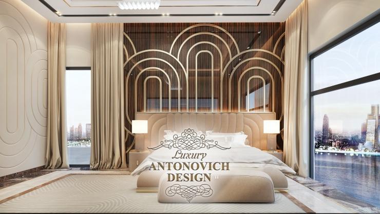Дизайн спальни в стиле модерн, Антонович Дизайн, Светлана Антонович