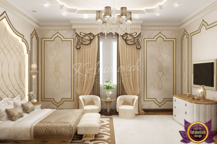 Interior of the bedroom, Katrina Antonovich, Luxury Antonovich Design