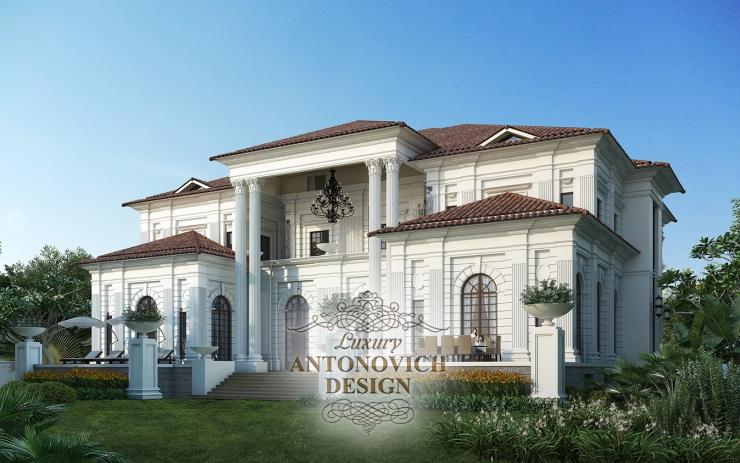 Архитектурный проект, дизайн фасада в классическом стиле, Антонович дизайн